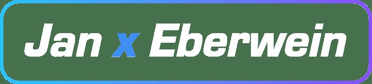 Jan x Eberwein Logo white