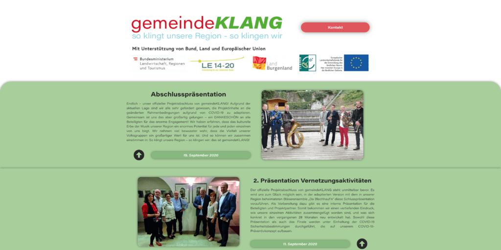 gemeindeKLANG.at Screenshot